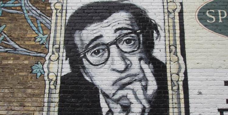 Retrato de Woody Allen en un muro (Eric Weisser)