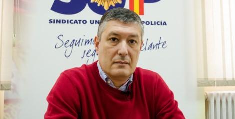 José María Benito (SUP) durante la entrevista. (Foto: Miguel Ángel Moreno)